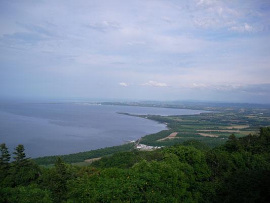 佐呂間町。サロマ湖展望台