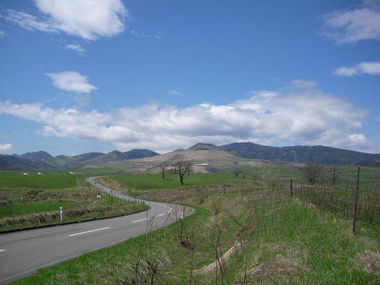 上士幌町。ナイタイ高原牧場へ向かう道