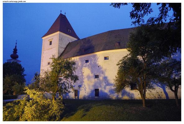 Das ist das Schloss in Orth mit dem Nationalpark-Museum drin und dahinter.