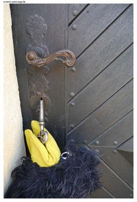Die Tür zum alten Lubwartsturm, dem Wahrzeichen von Bad Liebenwerda