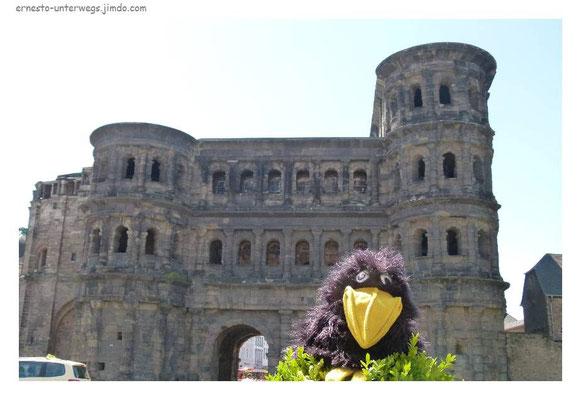 Porta Nigra und Corvus petasatus