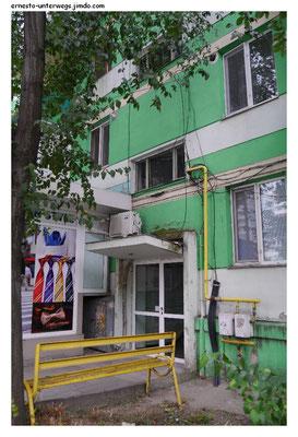 Diese grüne Farbe ist in Rumänien offensichtlich sehr beliebt.