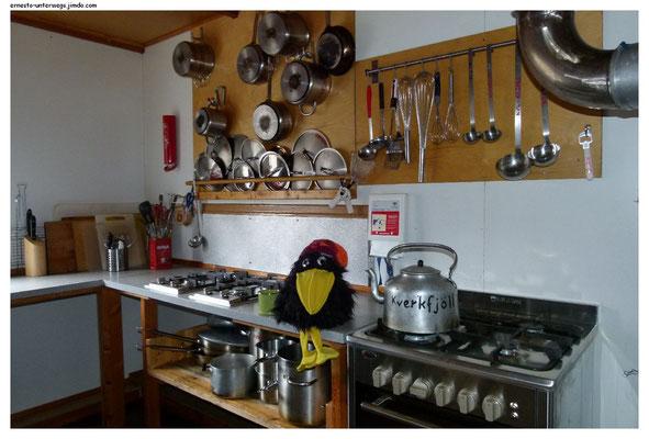 In der Küche der Hütte