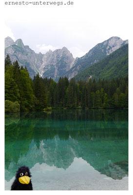 Lago di Fusine - ein würdiger Strandersatz (zumindest für kleine Reiseraben)
