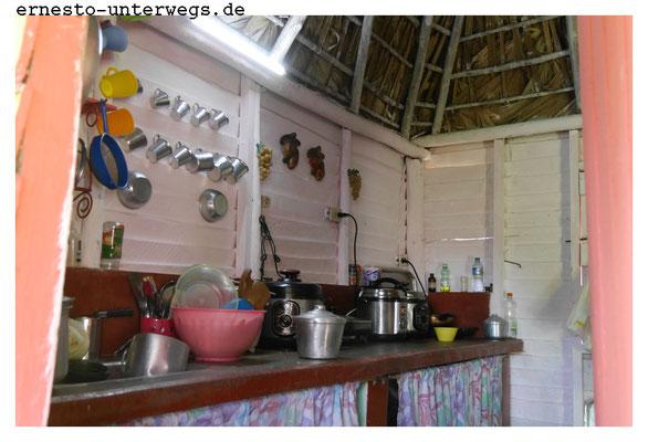 Des Öfteren ist die traditionelle Küche wie bei Omar und Belkys modernisiert.