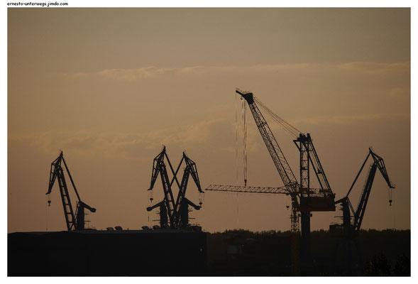 Tulcea hat durch die Nähe zum Schwarzen Meer einen großen Hafen.