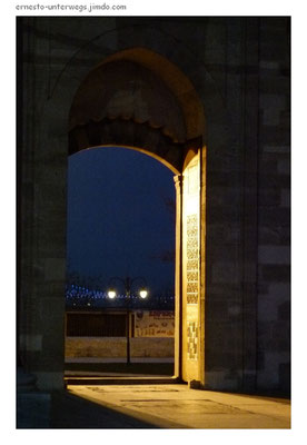 Blaue Stunde an der Süleymanye-Moschee