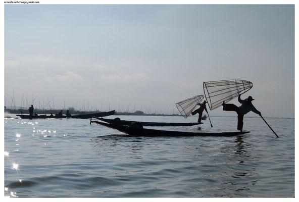 Diese ehemaligen Fischer zeigen ihre Fähigkeiten...