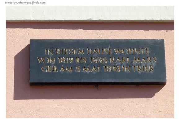 Hier wohnte Karl Marx...
