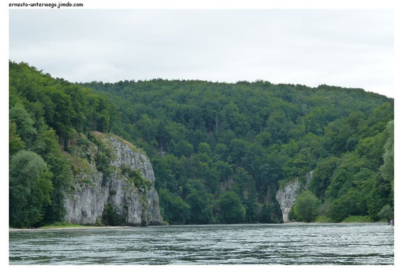 Der Donaudurchbruch aus der Ferne