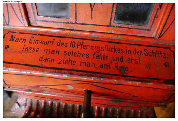 Verkaufsautomat im Kaufmannsmuseum
