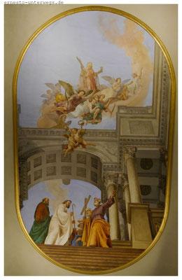 Deckenfresko von Giovanni Battista Tiepolo im Diözesanmuseum -  es ist tatsächlich nur zweidimensional!