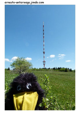 Der Radiosendemast auf dem Heidelstein