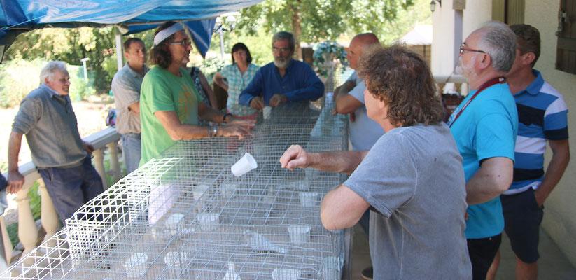 Les participants attentifs aux précisions d'Alain Debord
