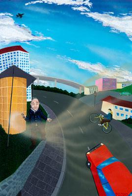Paul Ole Janns_AXE-Maniac_2020_Öl,Acryl,Spray_auf_Leinwand_120cmx80cm