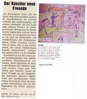 03/2003, Bremer