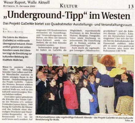 15.10.2003, Weser-Kurier