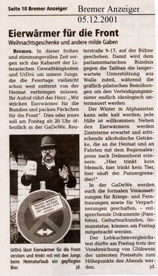 05.12.2001, Bremer Anzeiger