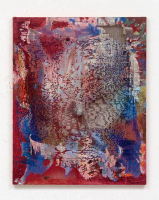 "Jutta Haeckel ""O.T."", 2021, 150 x120cm, Acryl auf Jute"