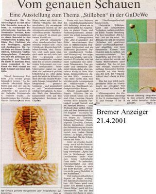 21.04.2001, Bremer Anzeiger