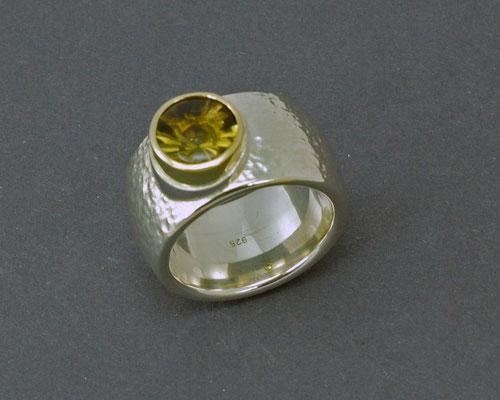 Ring Silber mit Lemon Quarz