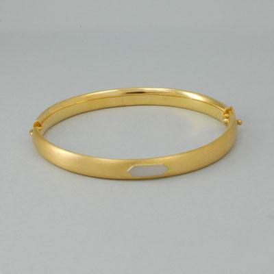 Armreif 750Gelbgold mit 950 Platin