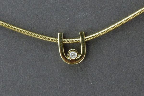585Gelbgoldanhänger mit Brillant