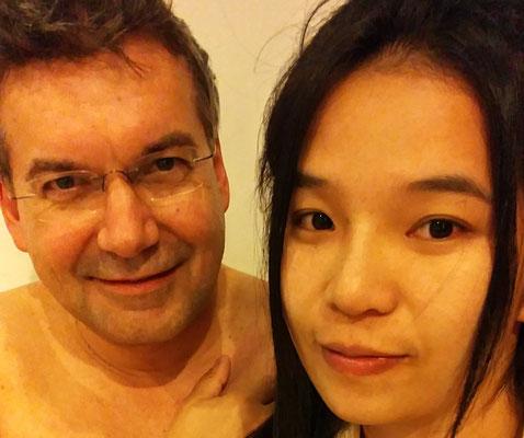 Der Autor und seine Urlaubsabschnittsgefährtin
