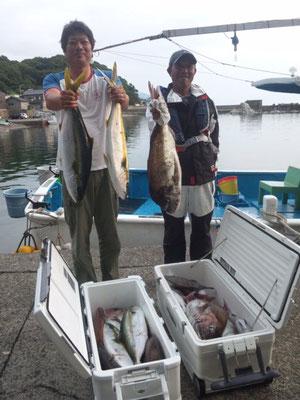 完全ふかせ釣り玄達瀬遊漁 ヒラマサ4本,真鯛90センチまで20枚 2013.6月17日