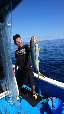 7月18日玄達遊漁 ヒラマサ70cm