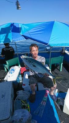 7月18日玄達遊漁 ワラサ70cm