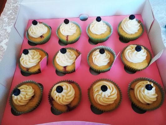 Blaubeer Zitronen Cupcakes
