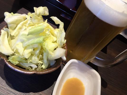 浜松の焼き鳥 鶴屋橋 生ビール