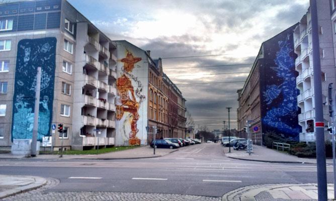 Murals in Dresden Friedrichstadt