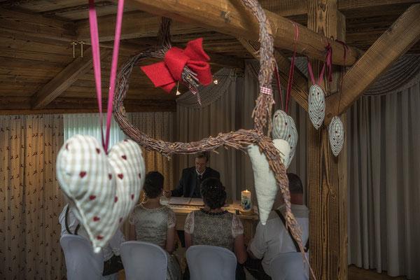Hochzeit auf der Gamskogelhütte