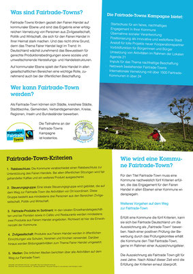 Plakat Fairtradetown Markkleeberg
