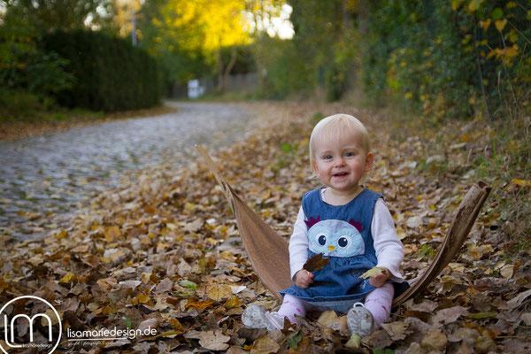 In diesem großen getrocknetem Blatt lag Lilli schon am 6. Lebenstag.