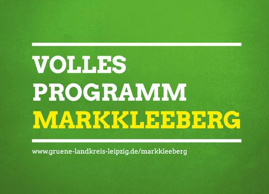 Wahlwerbung Flyer DIN A6 vorn, Bündnis 90/Die GRÜNEN Markkleeberg