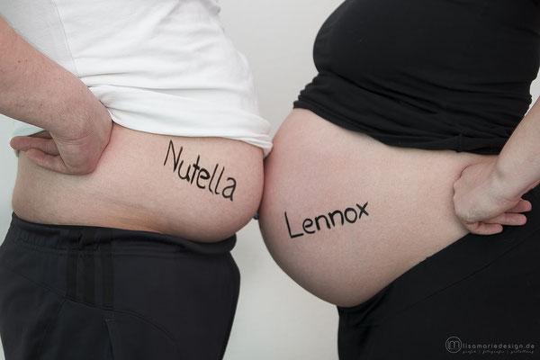 Beim Schwangerschaftsshooting stellten wir fest, dass alle zugenommen haben.