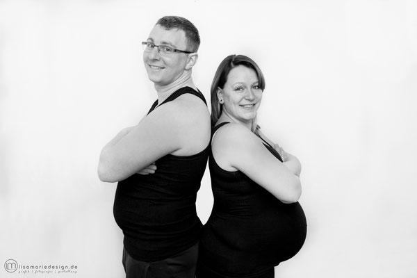 Beim Babybauchshooting stellten wir fest, dass alle zugenommen haben.