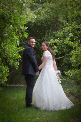 Hochzeitsfotos mit Hundekindern