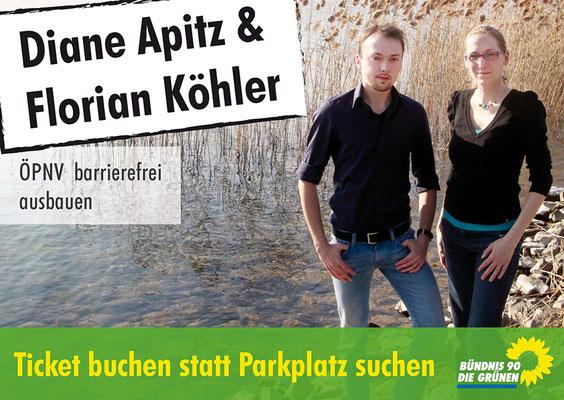 Wahlwerbung Plakat, Bündnis 90/Die GRÜNEN