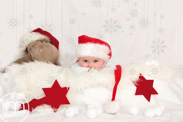 Newbornshooting für Weihnachten