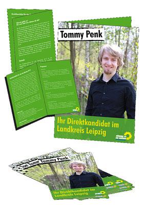 Wahlwerbung Flyer DIN A6, Bündnis 90/Die GRÜNEN