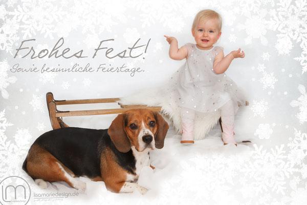 Kinderfotografie zur Weihnachtszeit, Bilder für Weihnachtskarten