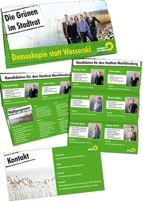 Wahlwerbung Flyer DIN lang, Bündnis 90/Die GRÜNEN