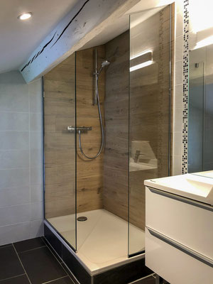 Pare douche en verre sur-mesure