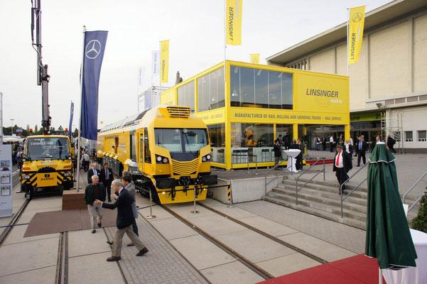 Messestand Linsinger, Messe Innotrans, Berlin 2012
