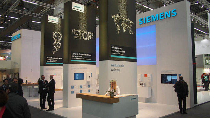 Messestand Siemens, Messe ISH, Frankfurt 2015