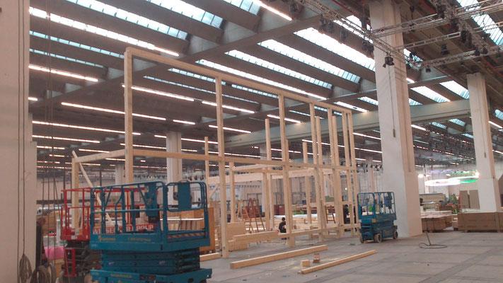 Aufbau und Montage am Beispiel Vogel & Noot Messestand, Messe ISH, Frankfurt 27.02.2013